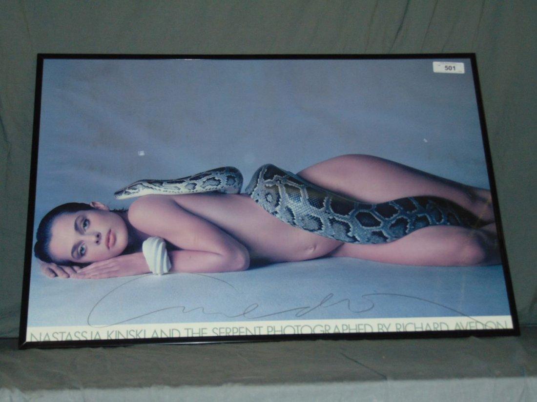 Richard Avedon Signed Poster of Nastassja Kinski