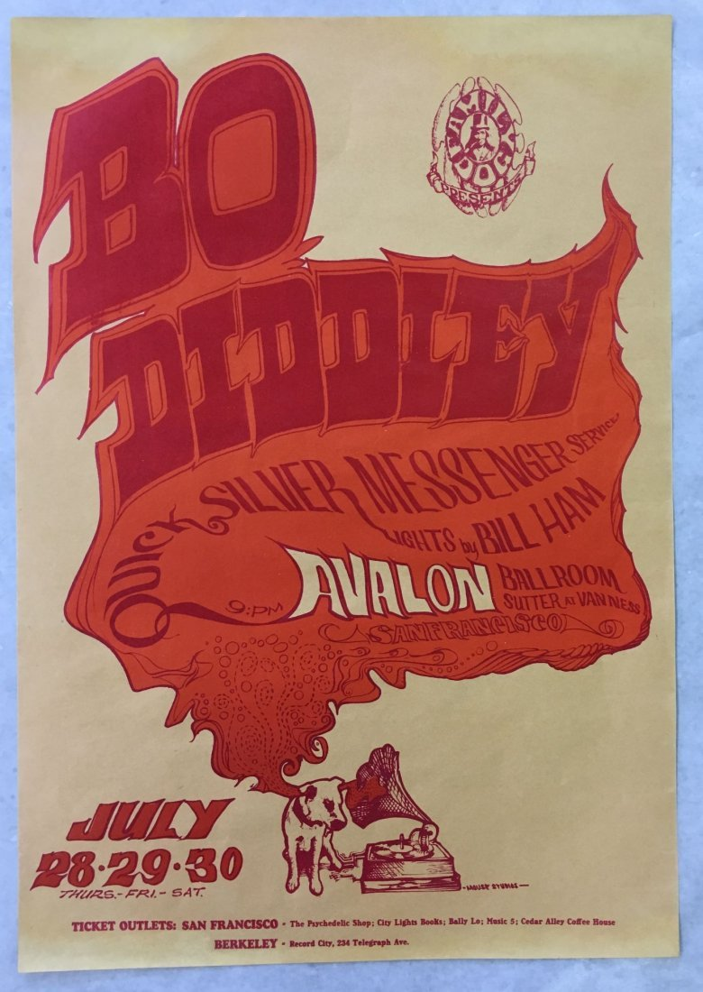 1966 Bo Diddley FD18 Concert Poster, 1st Print