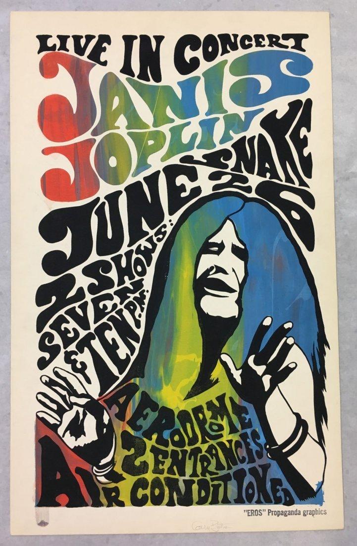 Janis Joplin 1968 NY Aerodrome Concert Poster