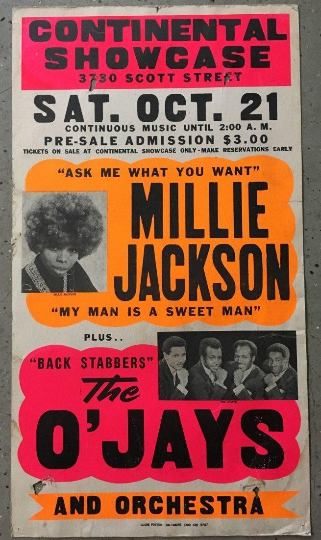 1972 Millie Jackson O'Jays Soul/R&B Concert Poster