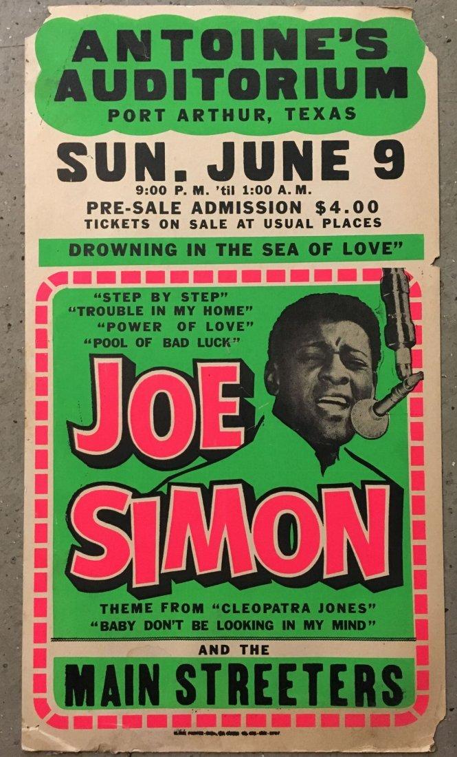 1970's Joe Simon Soul/R&B Concert Poster