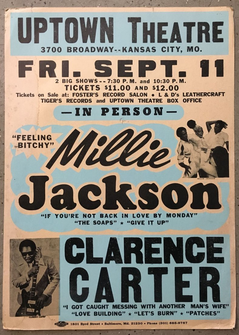 1970's Millie Jackson & Clarence Carter R&B Poster