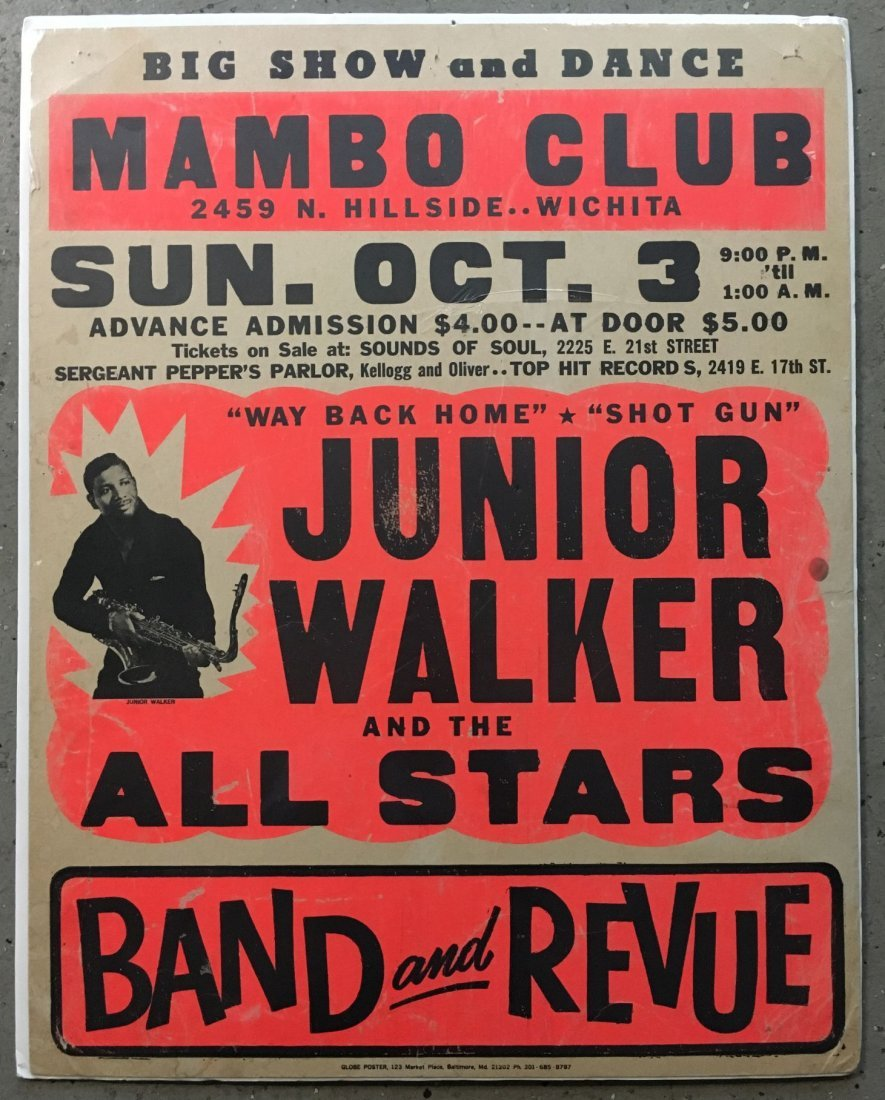 1970's Junior Walker R&B Concert Poster