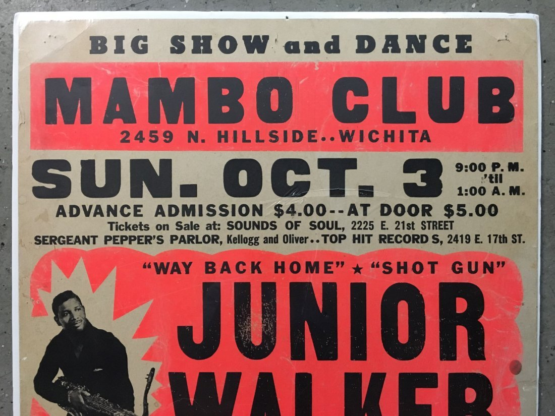 1970's Junior Walker R&B Concert Poster - 2