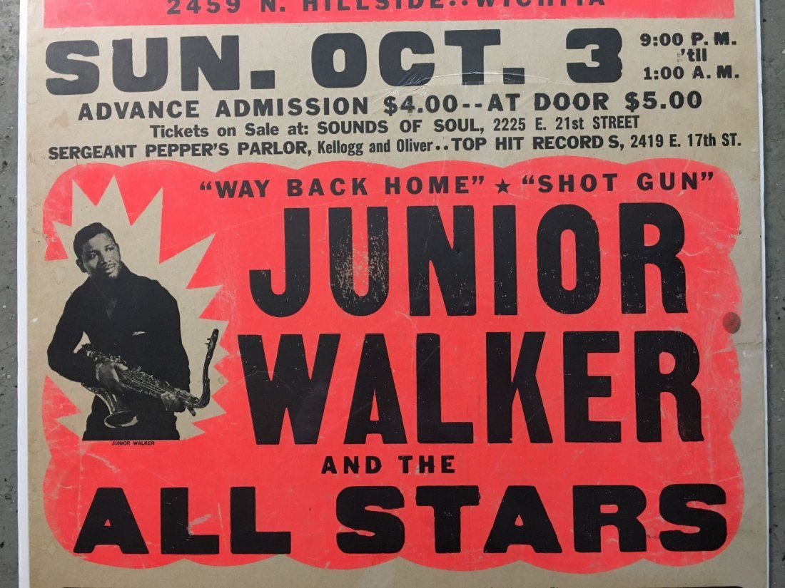 1970's Junior Walker R&B Concert Poster - 3
