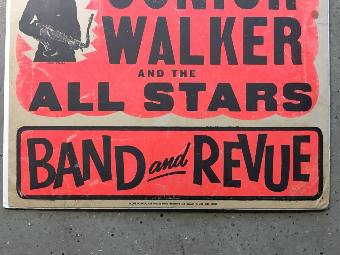 1970's Junior Walker R&B Concert Poster - 4