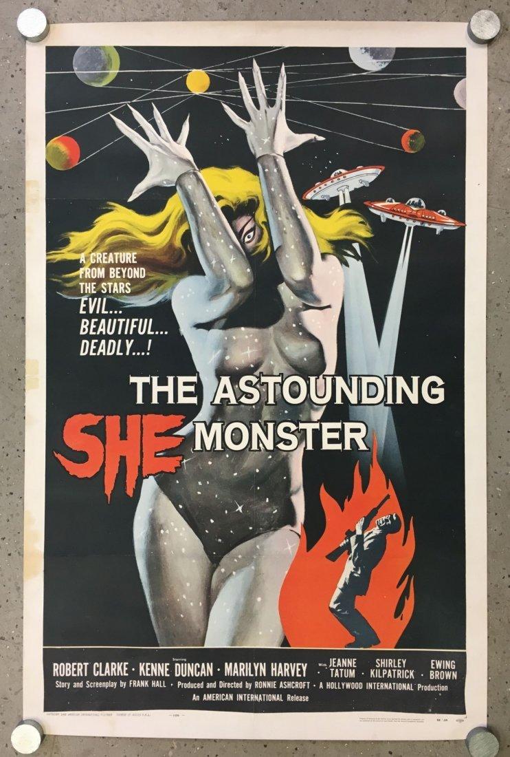 1958 The Astounding She Monster One Sheet Poster