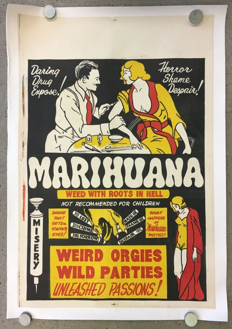 Rare, 1936 Marihuana One Sheet Poster