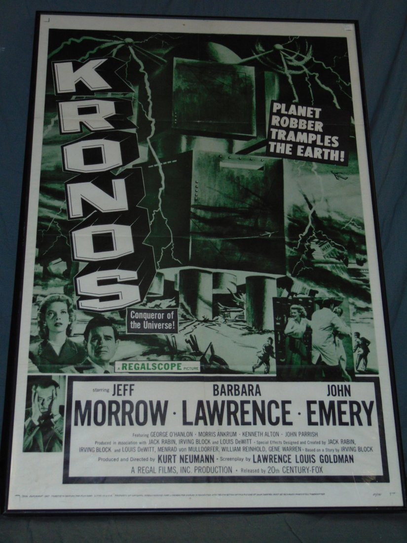 1957 Kronos One Sheet Movie Poster, Sci-Fi