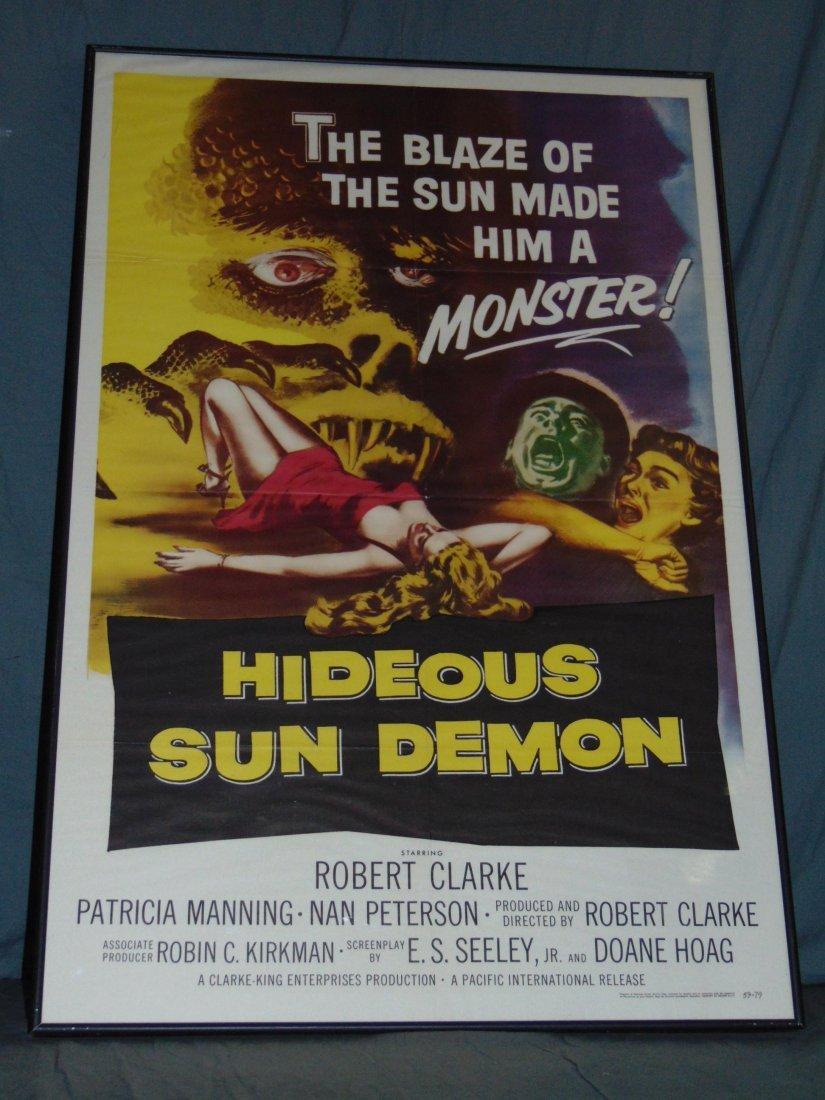 1959 Hideous Sun Demon One Sheet Poster, Sci-Fi