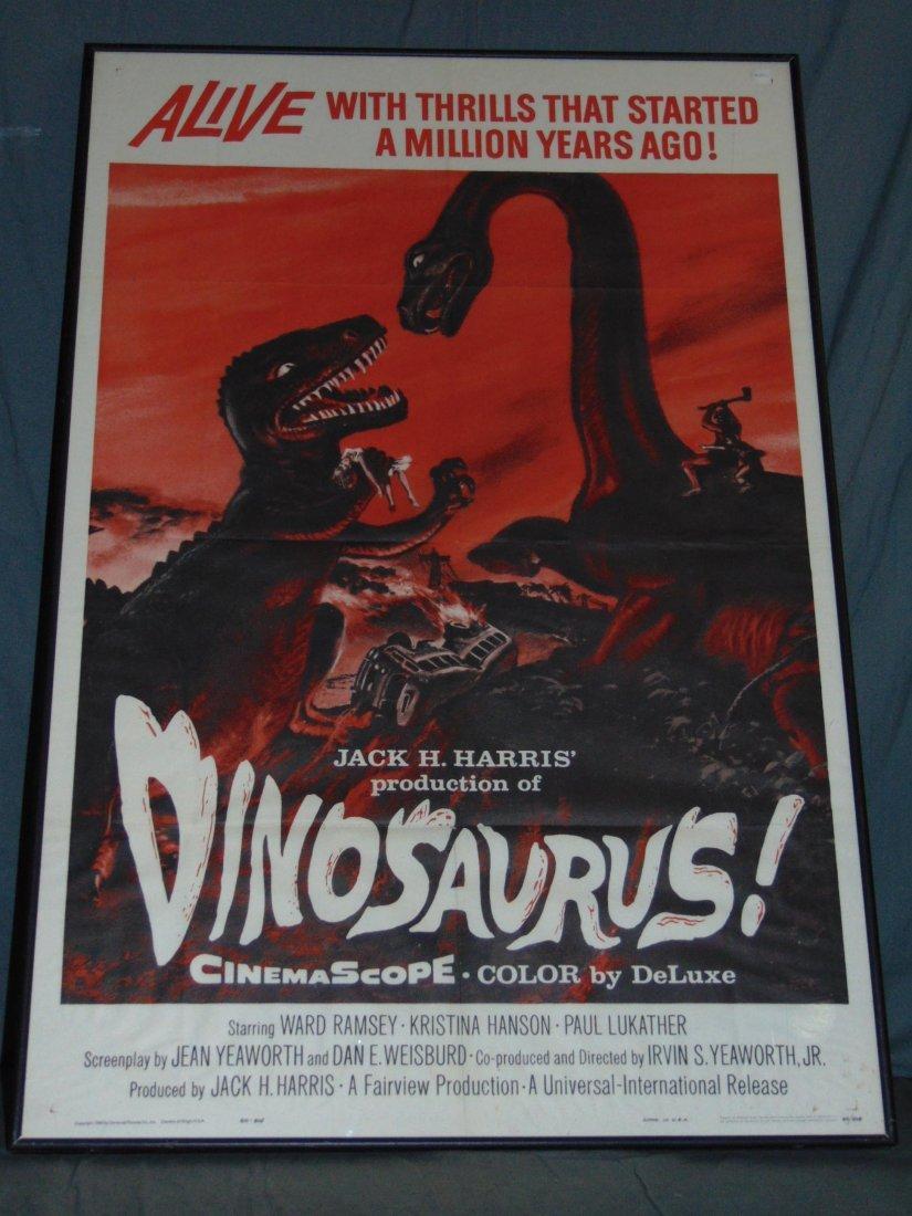 1960 Dinosaurus! One Sheet Poster, Sci-Fi