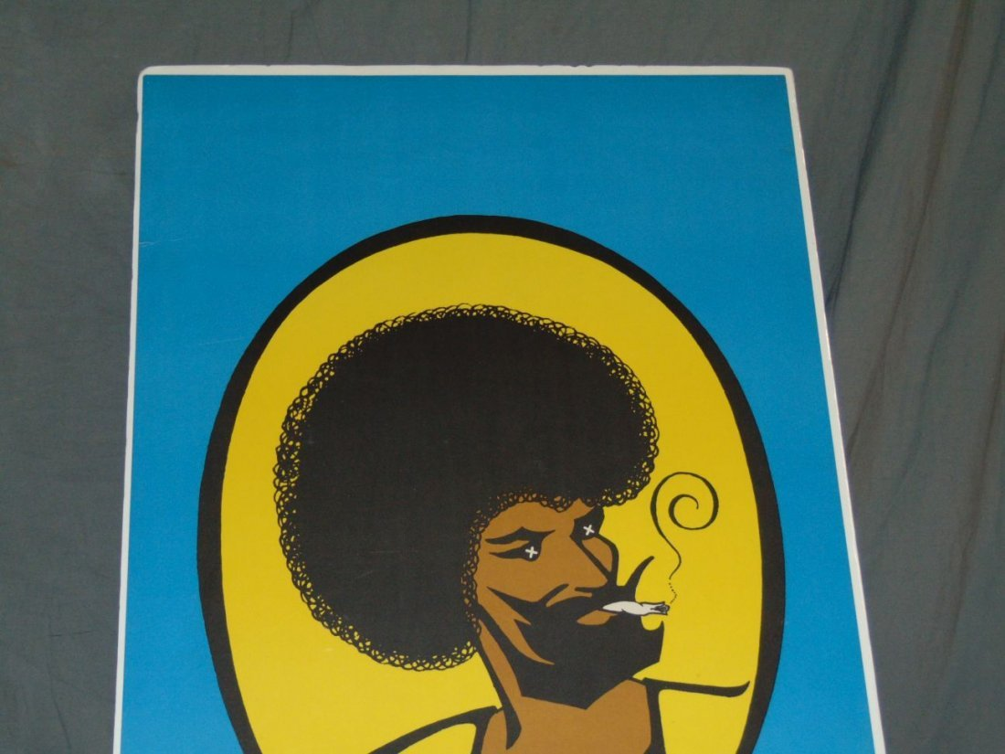 1973 Afro Zig Zag Man Blacklight Poster, Pennewell - 2