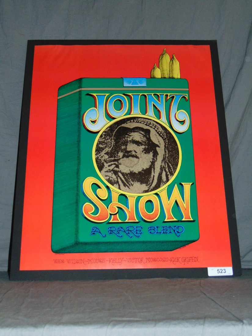 1967 Joint Show Concert Poster, Rick Griffin