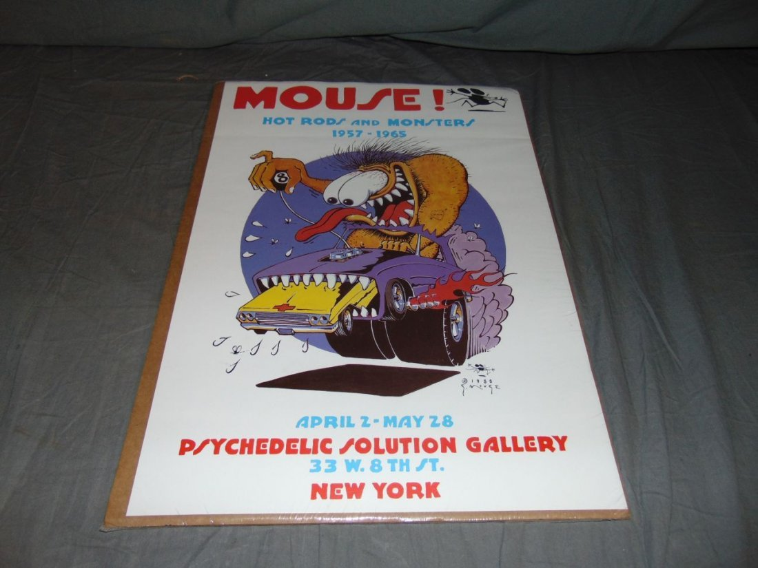 Stanley Mouse Hot Rods & Monsters Poster, 1988