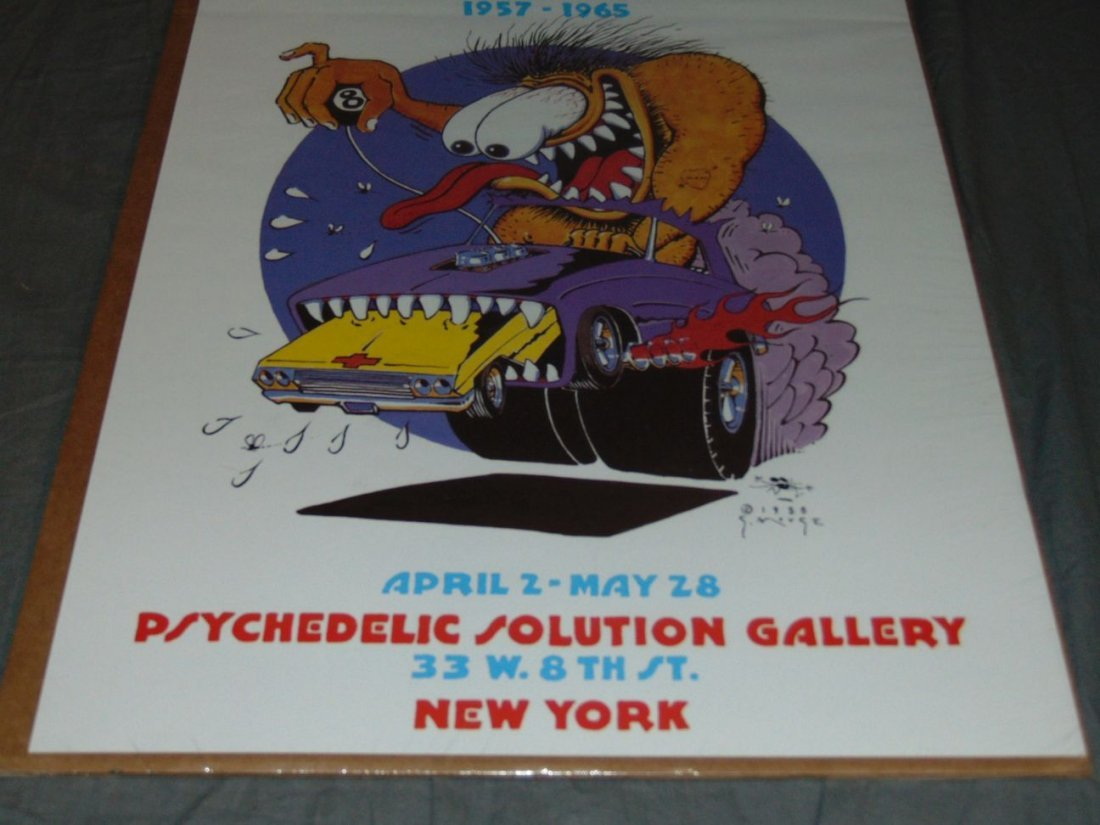 Stanley Mouse Hot Rods & Monsters Poster, 1988 - 3