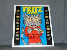 Robert Crumb Fritz the Cat Rolling Papers Poster