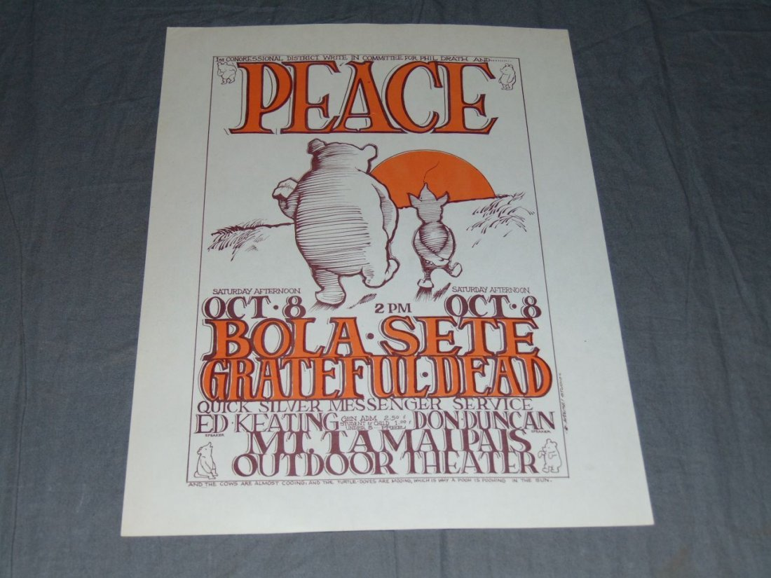 Grateful Dead Concert Handbill Oct 8 1966