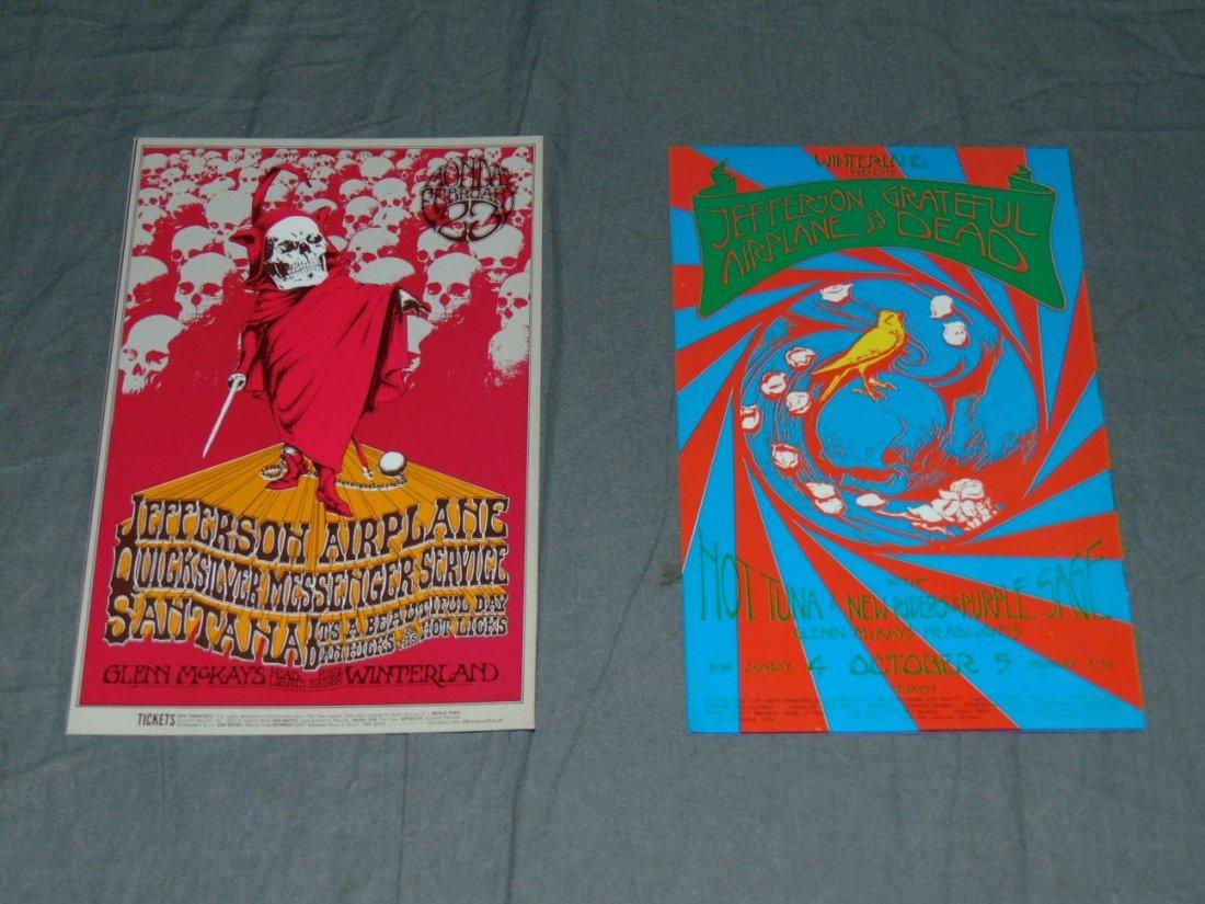 (2) Jefferson Airplane Concert Handbills