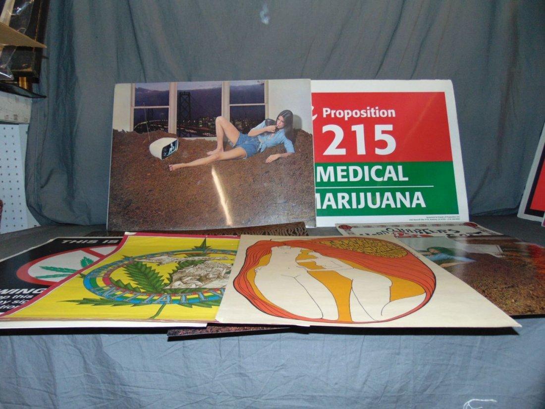 (9) Assorted Psychedelic Marijuana Posters