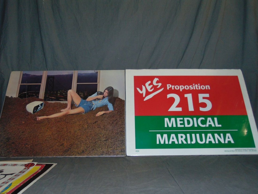 (9) Assorted Psychedelic Marijuana Posters - 2