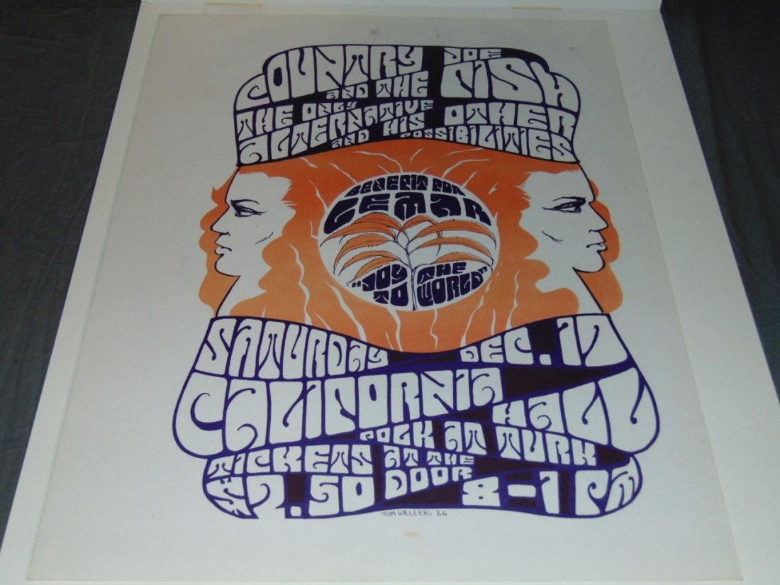 1966 Country Joe LEMAR Benefit Poster, 1st Print - 2