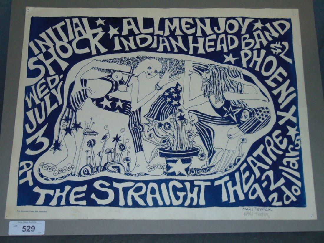 Rare 1968 Initial Shock Poster, Signed Mari Tepper