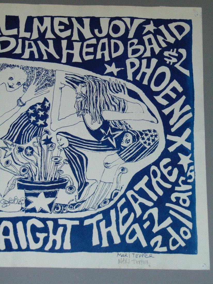 Rare 1968 Initial Shock Poster, Signed Mari Tepper - 3