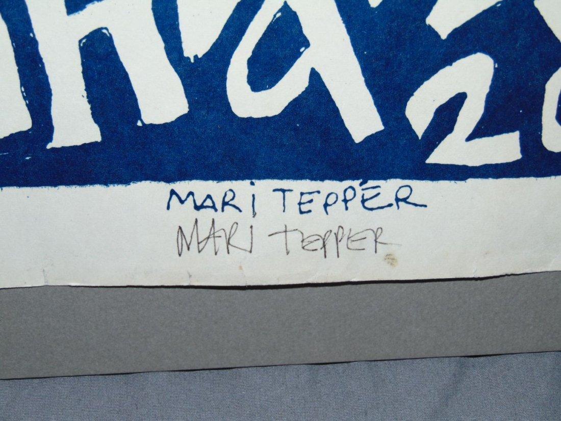 Rare 1968 Initial Shock Poster, Signed Mari Tepper - 4