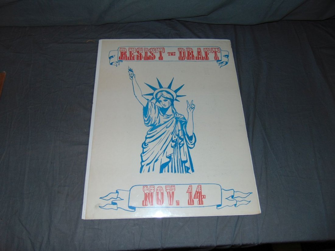 Resist the Draft Poster, Lady Liberty
