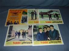 (5) Beatles Lobby Cards, A Hard Day's Night & Help
