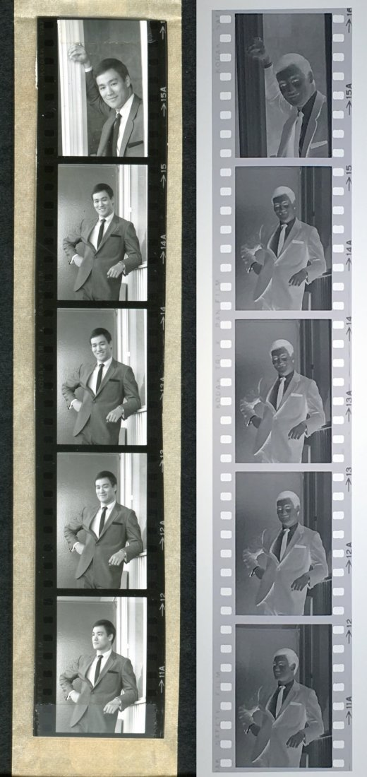 Group of Bruce Lee 35mm Negatives w/Contact Prints
