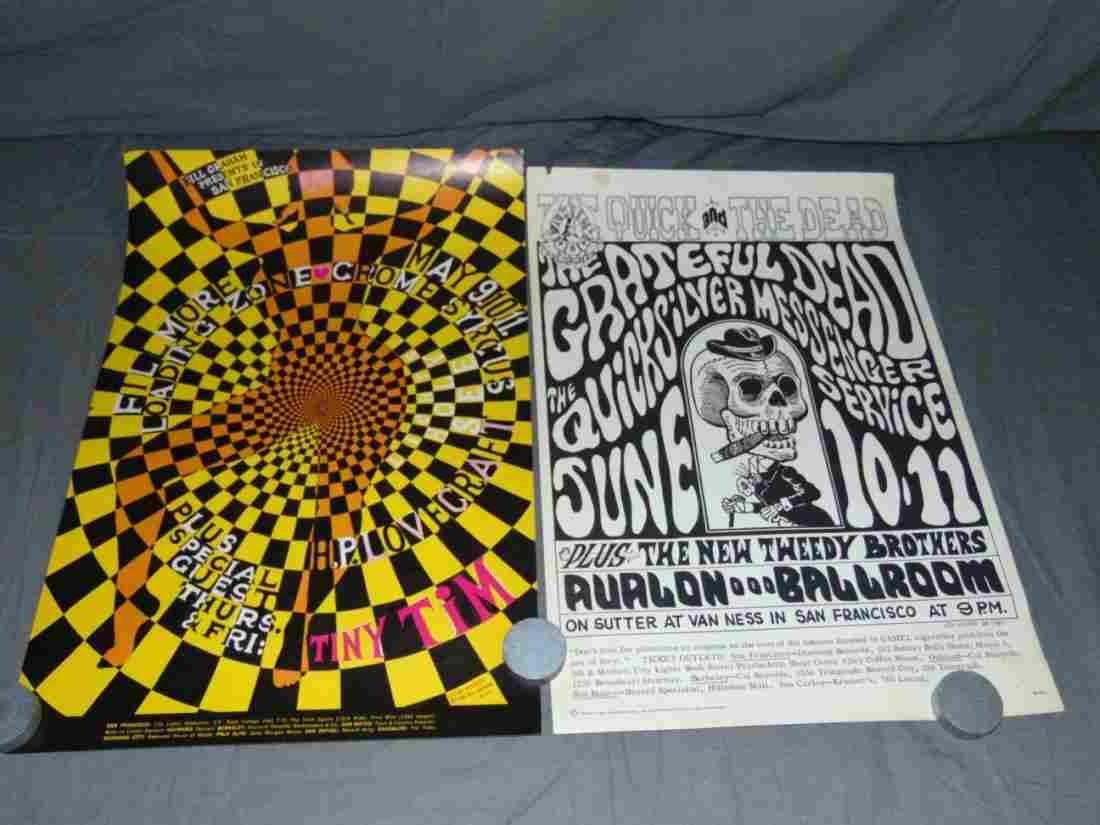 (2) Bill Graham & Family Dog Rock Posters