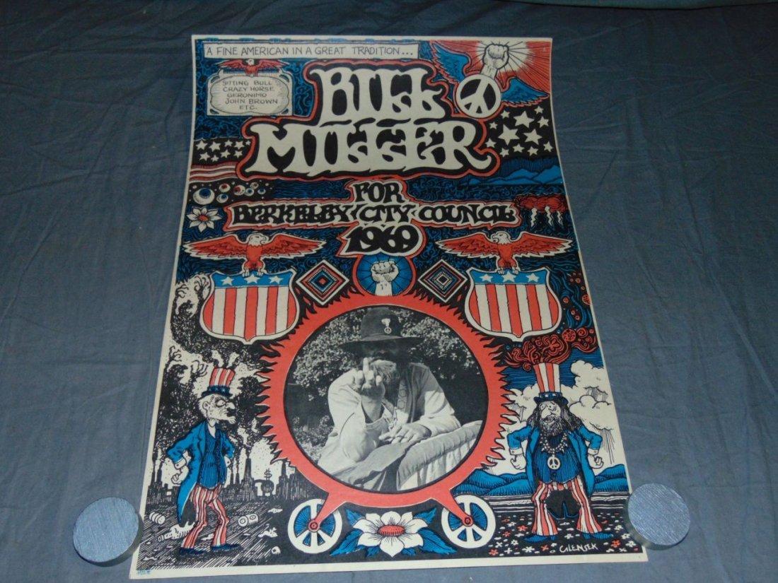 1969 Bill Miller, Berkeley City Council Poster