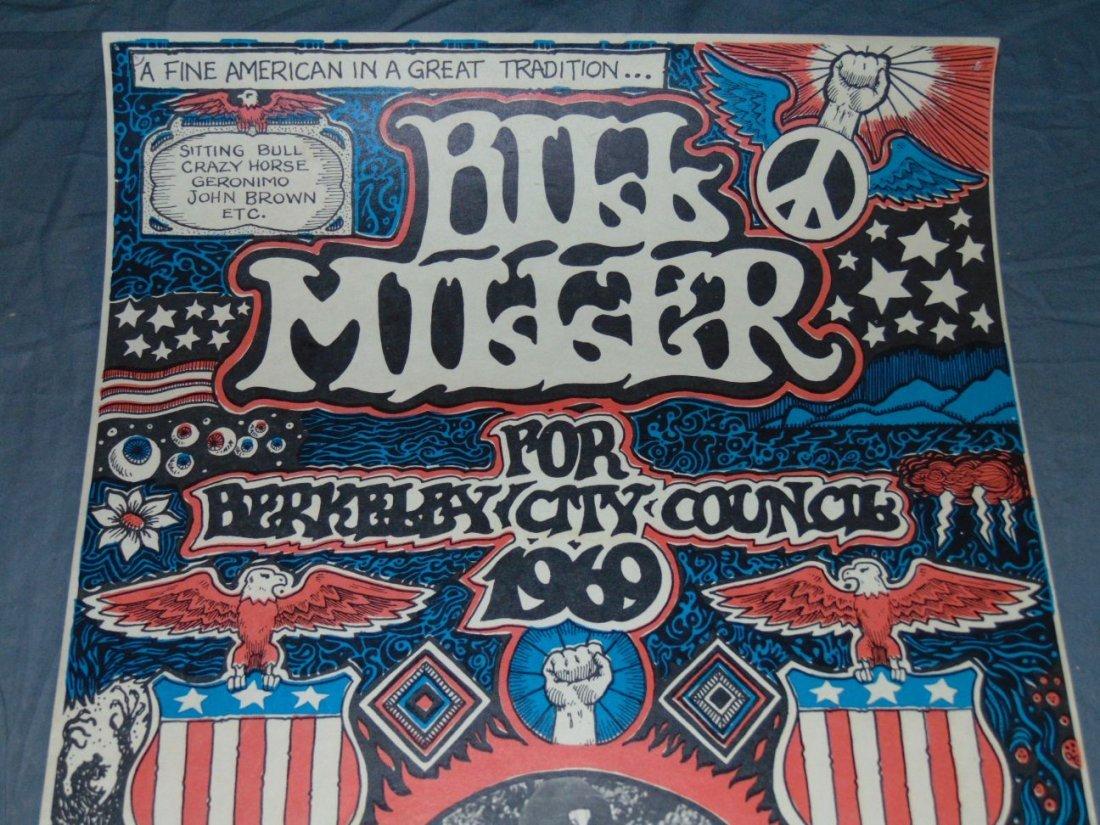 1969 Bill Miller, Berkeley City Council Poster - 2