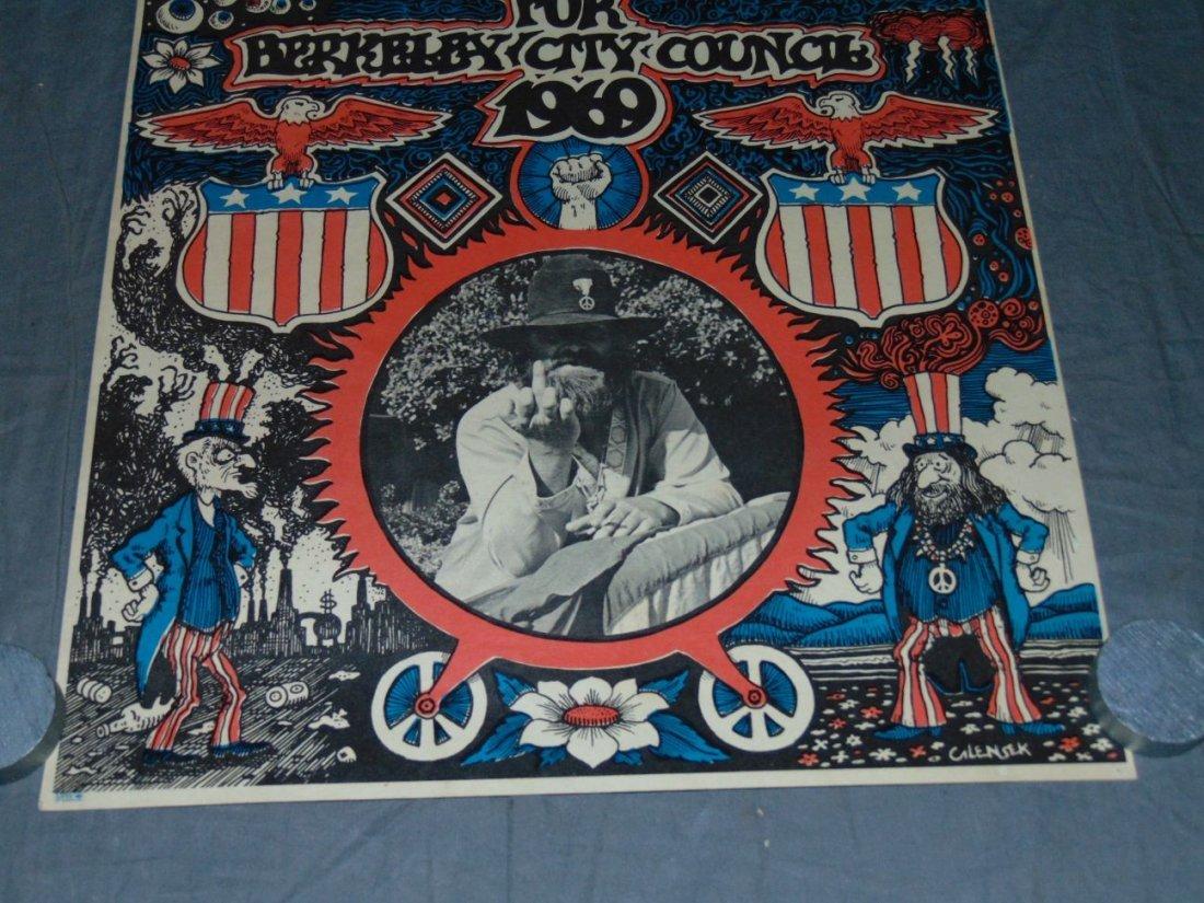 1969 Bill Miller, Berkeley City Council Poster - 3