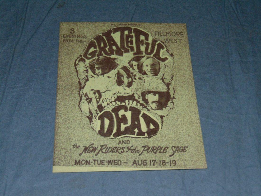 Grateful Dead Fillmore 1970 Concert Handbill