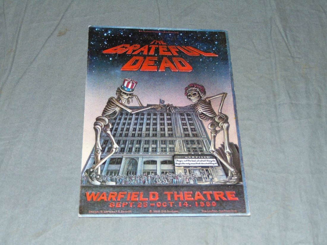 Grateful Dead Warfield Theater Welcome Handbill