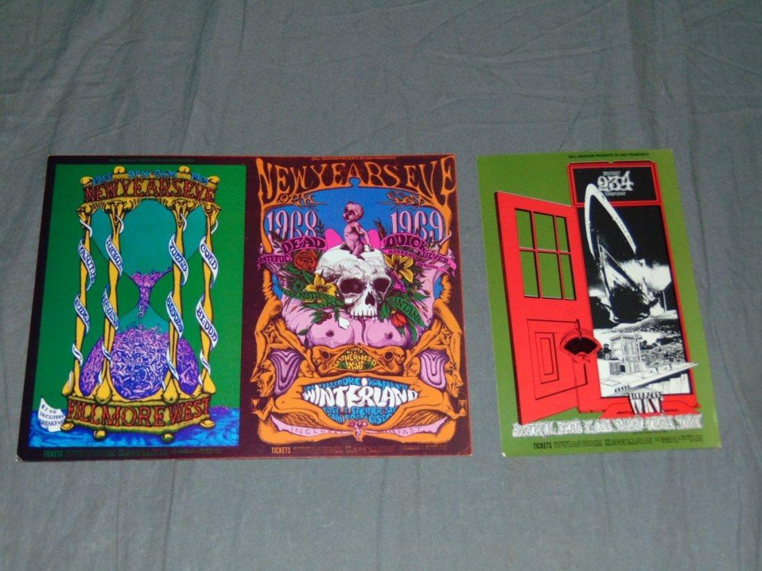 (2) Grateful Dead Fillmore Concert Handbills