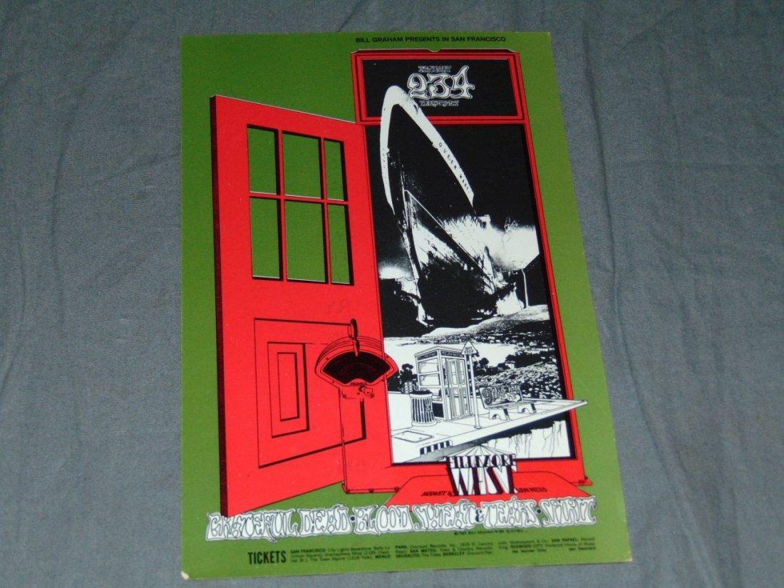 (2) Grateful Dead Fillmore Concert Handbills - 2