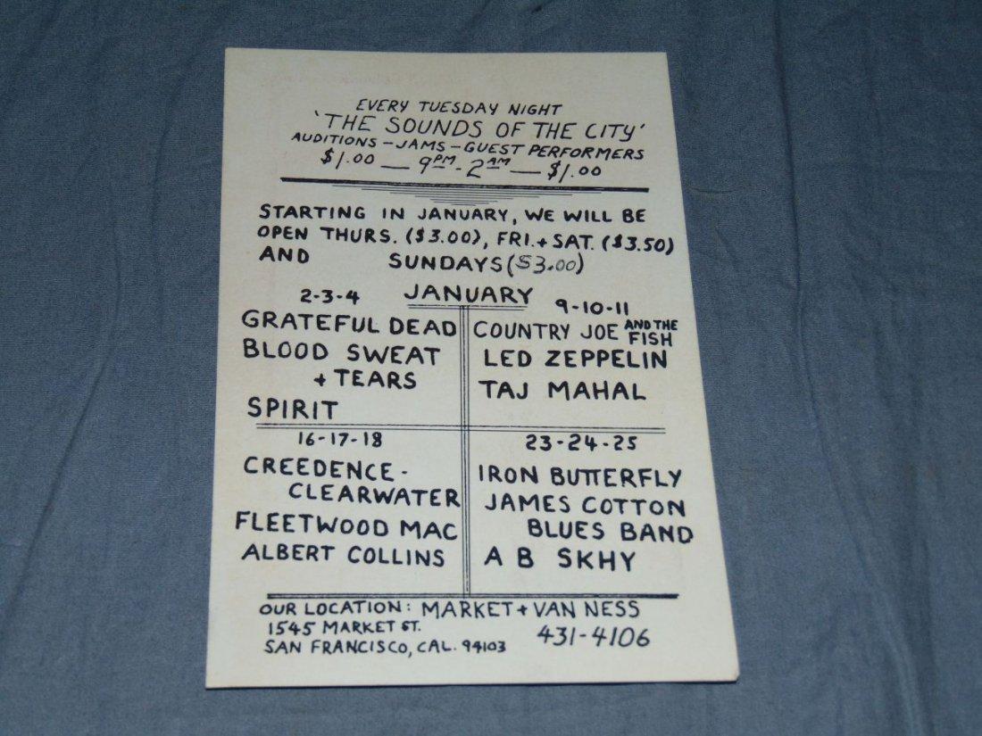 (2) Grateful Dead Fillmore Concert Handbills - 3