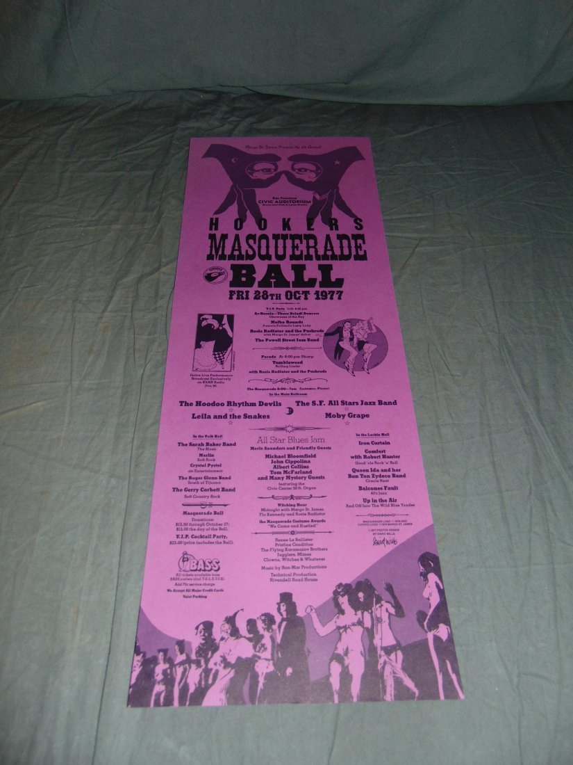 8 Assorted Coyote Hooker's Ball Posters, 1970's - 2