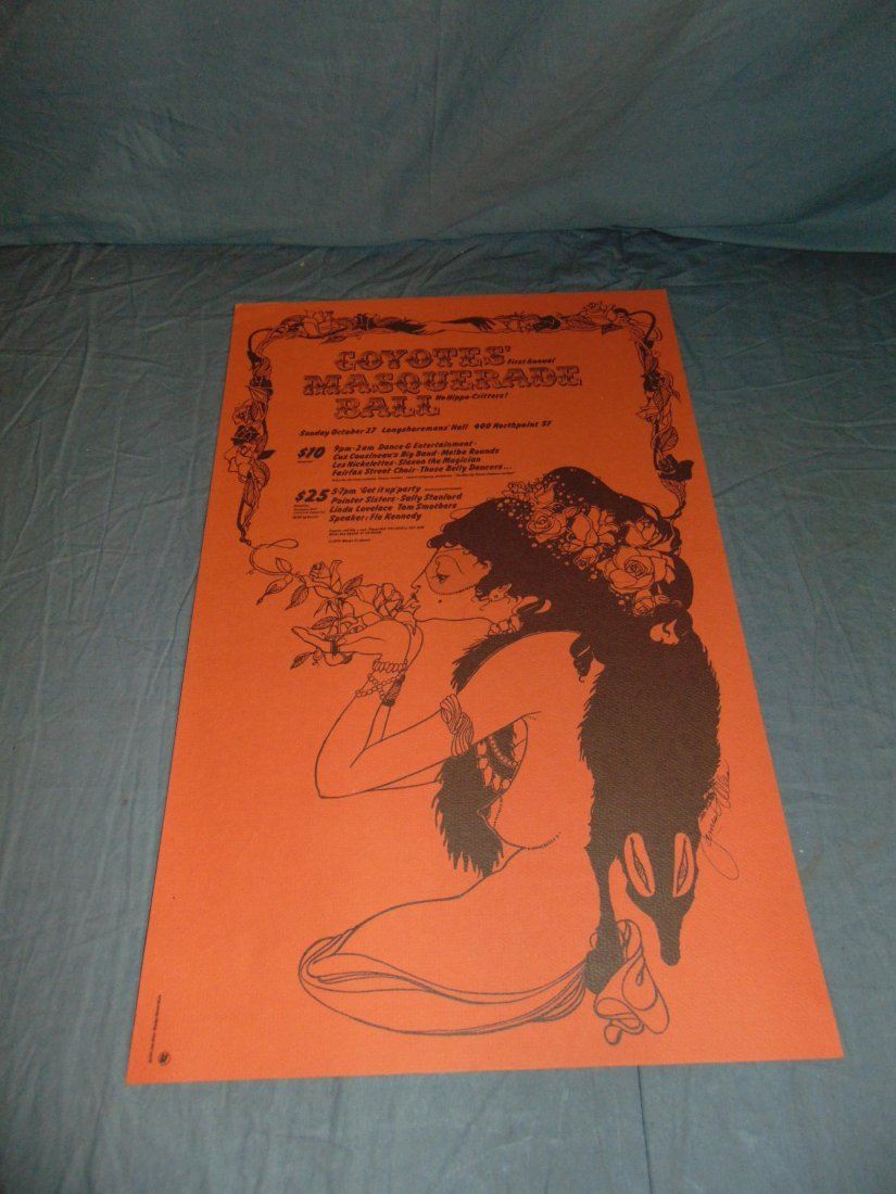 8 Assorted Coyote Hooker's Ball Posters, 1970's - 9