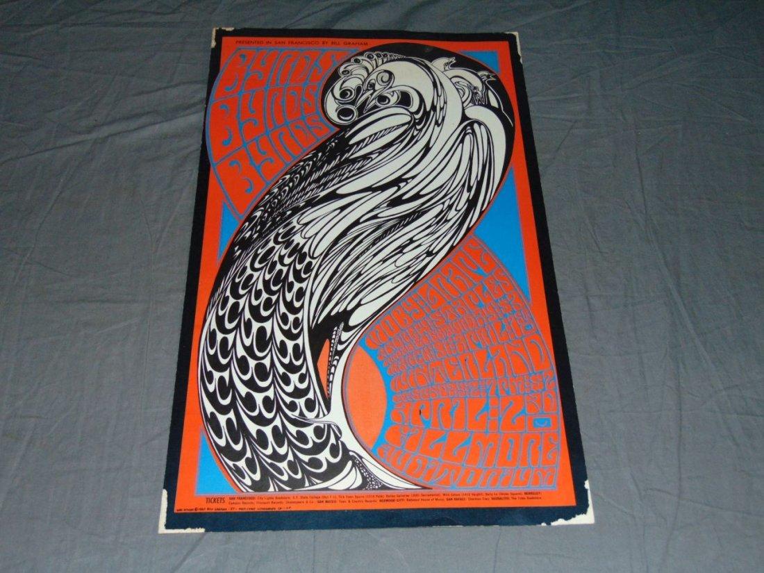 1967 The Byrds BG57 Fillmore Concert Poster