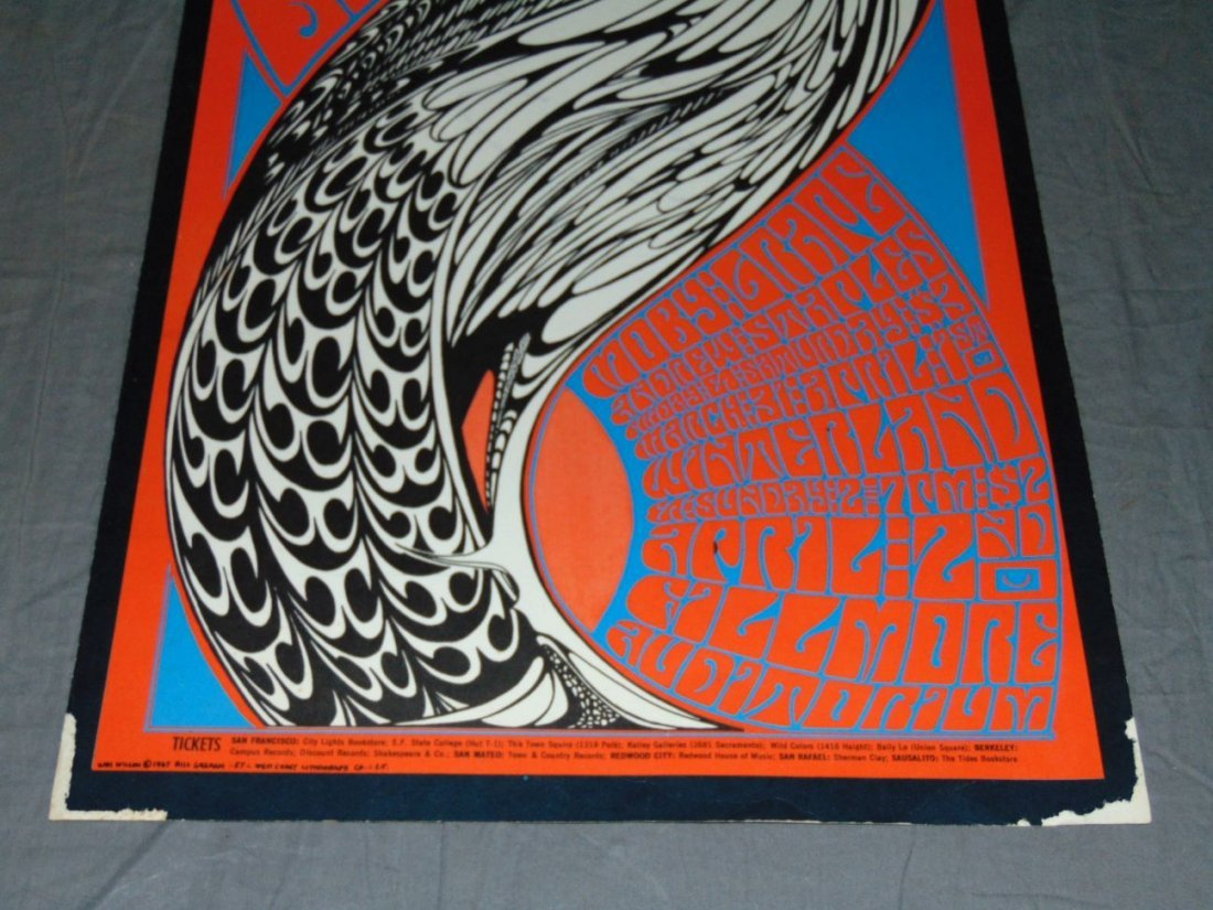 1967 The Byrds BG57 Fillmore Concert Poster - 3