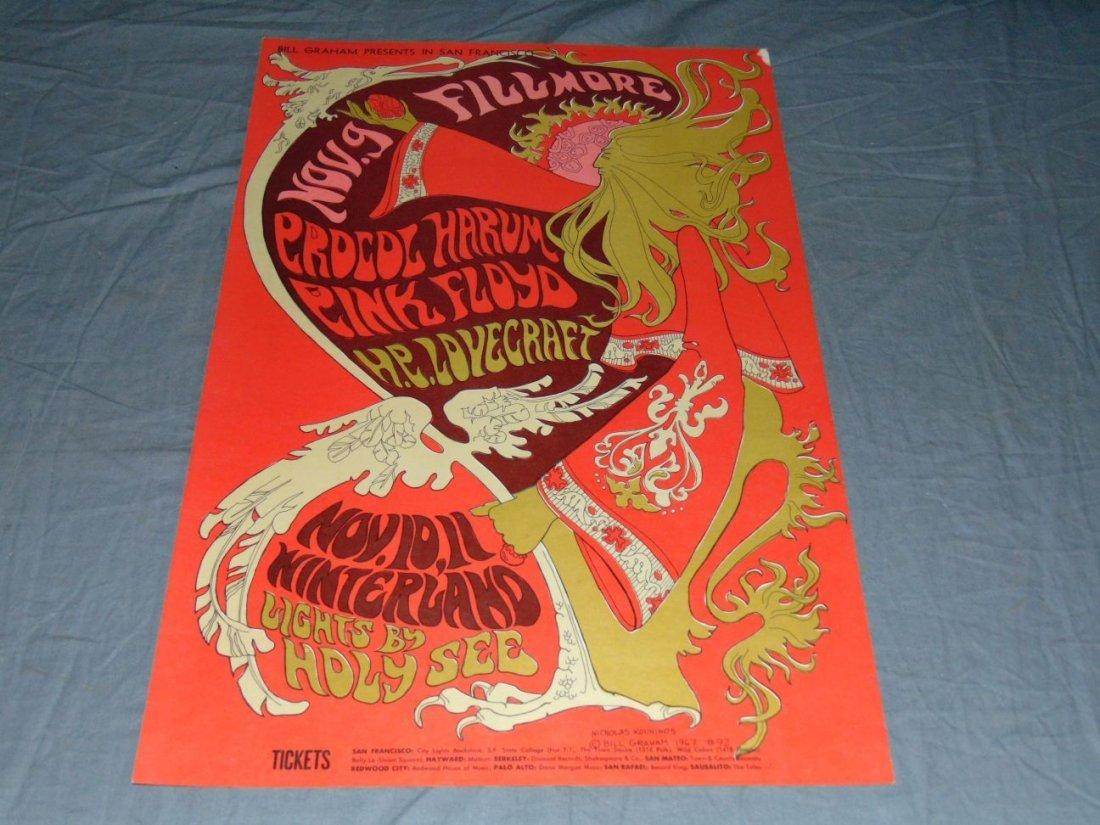 1967 Pink Floyd BG92 Fillmore Concert Poster