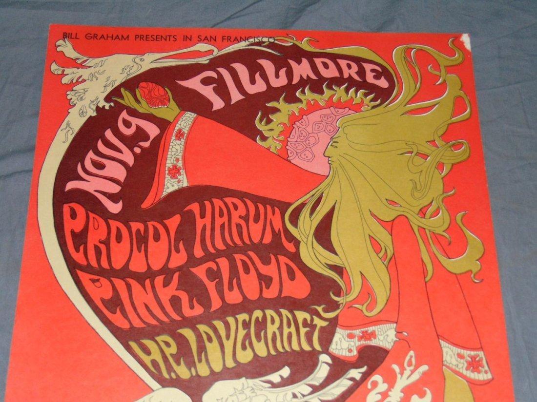 1967 Pink Floyd BG92 Fillmore Concert Poster - 2