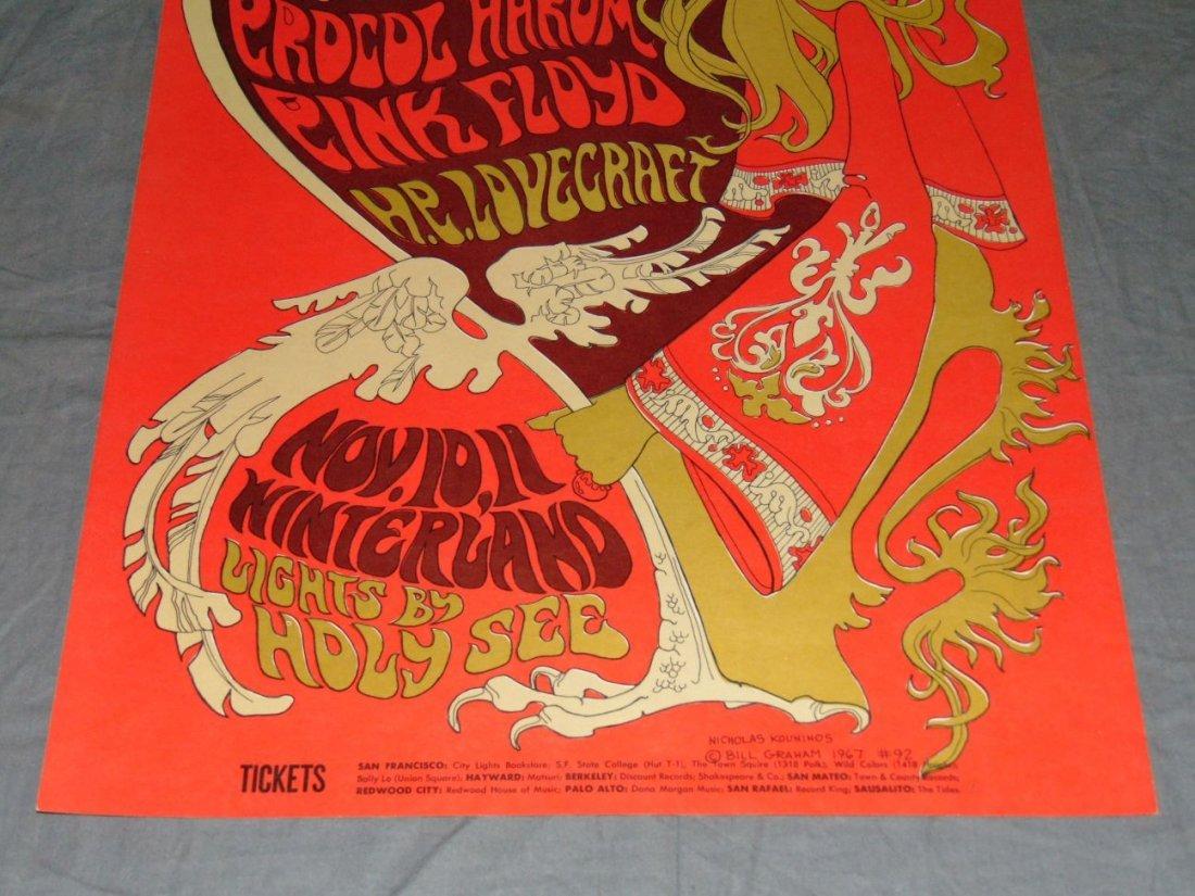 1967 Pink Floyd BG92 Fillmore Concert Poster - 3
