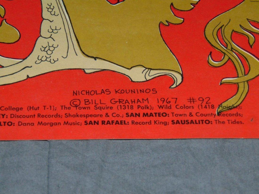 1967 Pink Floyd BG92 Fillmore Concert Poster - 4