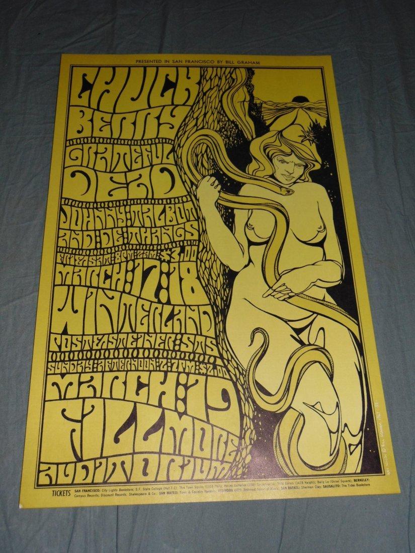 (2) Grateful Dead 1967 Concert Posters BG55