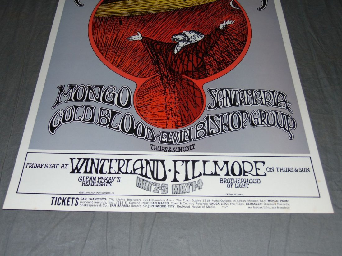 Grateful Dead Fillmore Concert Poster BG171 - 3
